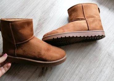 Hnedé semišové topánky