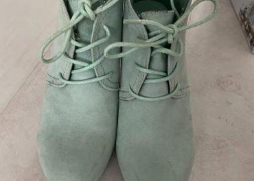 Dámske topanky zelenej farby