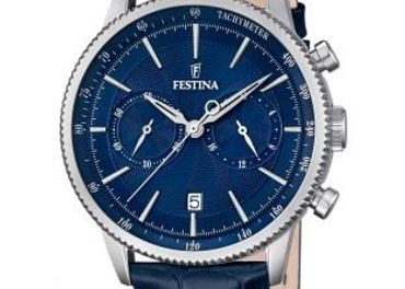 Pánske kožené hodinky Festina