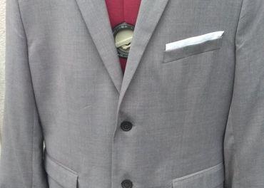 Pánsky sivy oblek H&M, č. 54, slim fit