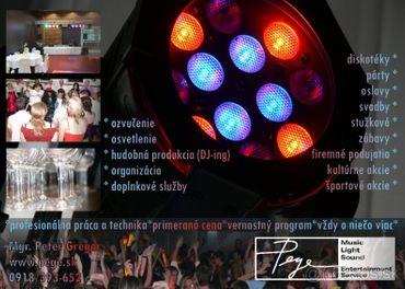 DJ, ozvučenie a osvetlenie vašej svadby, eventu