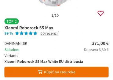 Robotický vysávač xiaomi roborock5s Maxúplne nový zabalený