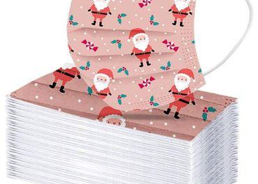 Vianočné jednorazové rúška pre dospelých - 50 centov