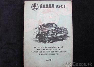Škoda 1201 Seznam náhradních dilú 1956