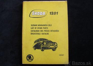 Škoda 1201 Seznam náhradních dilú 1961