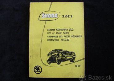 Škoda 1201 Seznam náhradních dilú 1960