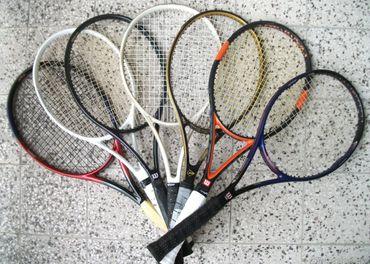 Tenisové rakety rôznych značiek pre dospelých a aj detské