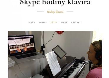 Skype hodiny klavira