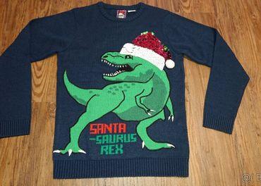 novy vianocny pulover c 176 dinosaurus s meniacou ciapkou