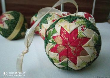 Vianočné gule falošný patchwork