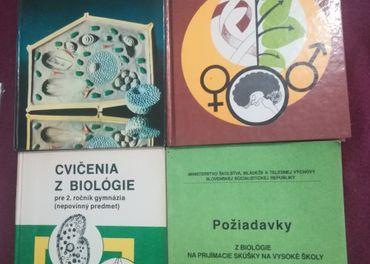 Rôzne staršie učebnice Dejepis, Hudobná, Biológia