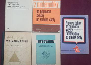 Rôzne staršie matematické učebnice pre ZŠ a SŠ