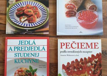 Kuchárske knihy; recepty, syry, huby, napoje