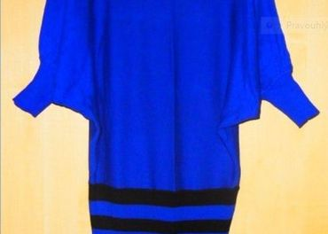 Pulóver / šaty - kráľovská modrá
