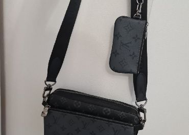 Louis Vuitton Trio Messenger Monogram Eclipse Reverse Gray