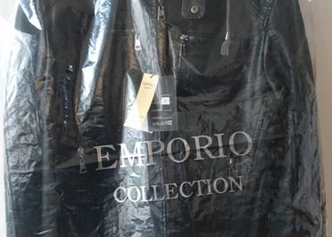 Emporio Armani - kožená bunda nová