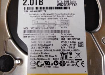 2TB Hard disk ,SATA, 3,5, WD RE4 WD2003FYYS
