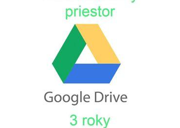 Predám neobmedzené Google Drive úložisko na 3 roky