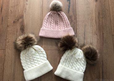 Zimné čiapky 6-12mesiacov