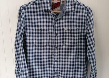 Pánska modrobiela košeľa