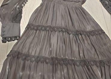 Čierne saténové šaty