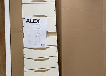 IKEA-ALEX 9 Zásuvkový diel biely 36x115x48cm nerozbaleny.