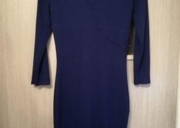Dámske úpletové modré šaty