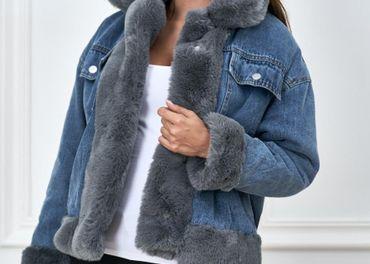Zateplena riflova bunda s kozusinou