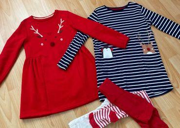 Vianocne šaty vel. 122 - 128 na 6 - 7 rokov