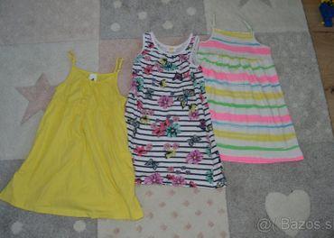 Letné šatečky 3 kusy veľkosť 98-104