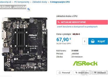 microATX ASRock J4005M integrovaný cpu+Win10pro
