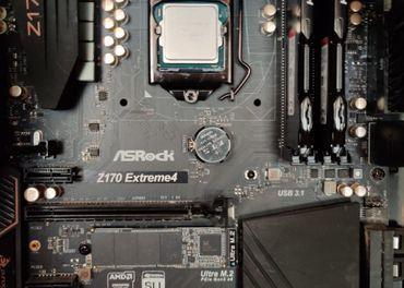 CPU Intel i5 6600 + MB ASrock z170 + 16GB DDR4 RAM