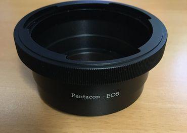 Predám redukciu z bajonetu Pentacon SIX na Canon EOS
