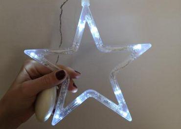 Vianočné svetlo s prísavkou hviezda