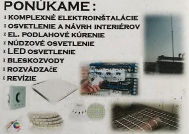 Elektroinštalácie / Elektrikár