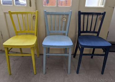 Farebné stoličky stolička vintage retro