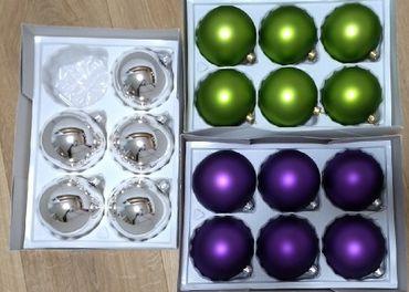 Sklenené vianočné gule 5-10cm