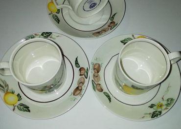 3 kusy kávových šálok s tanierikom villeroi boch