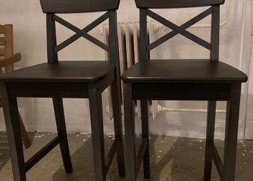 Cierne Ikea barove stolicky Ingolf
