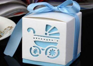 Darčekové ozdobné krabičky s kočíkom
