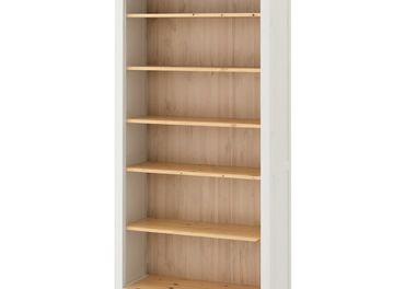Knižnica, bielo morené /svetlohnedá90x197 cm