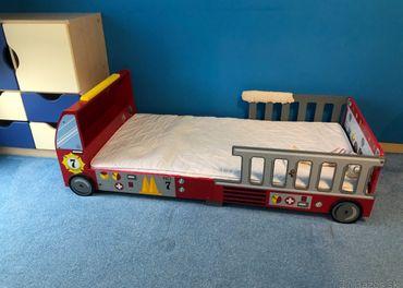 Predam detsku postel - hasici