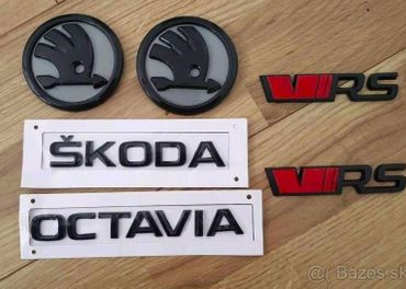 ŠKODA RS VRS logo nápisy - KAPOTA + KUFOR FABIA OCTAVIA