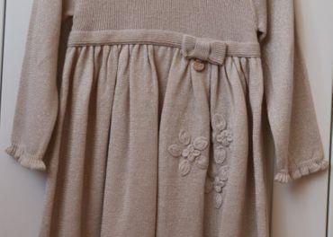 Mayoral zlato-béžové vlnené šaty 92