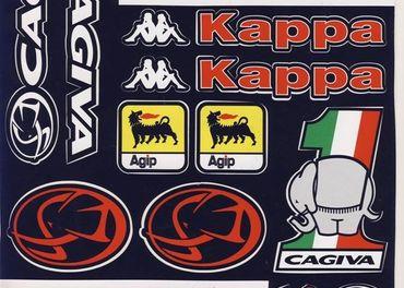 Nálepky moto Cagiva