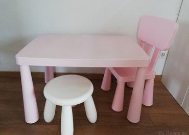 IKEA MAMMUT stôl so stoličkami