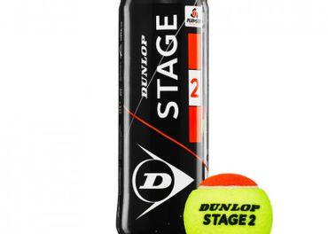 Tenisové lopty Dunlop Stage 2 (oranžové), nové