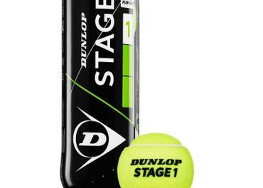 Tenisové lopty Dunlop Stage 1 (zelené), nové