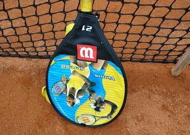 Detská tenisová raketa Wilson 21, vypletená