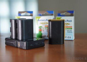 Batérie Canon LP-E6/LP-E6N 2650mAh + Nabíjačka na 2 baterky